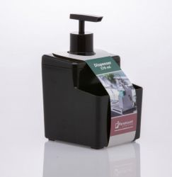 Organizador para detergente e esponja em preto Ref. 1249