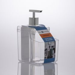 Organizador para detergente e esponja transparente ref. 1247
