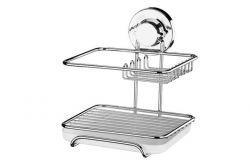 Organizador para Sabão/Detergente/Esponja Praticita (ventosa por sucção) Ref. 4017