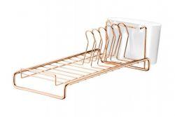 Escorredor de Louças Compacto Ref. 984 Rose Gold