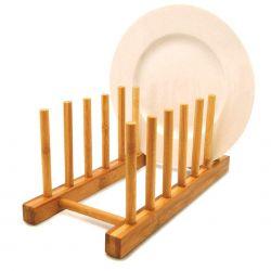 Organizador para 6 Pratos ou Tábuas de corte Bambu