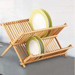 Escorredor Louças Bambu Dobrável