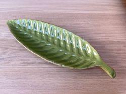 Prato Banana Leaf em Cerâmica Verde Ref. 3875