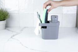 Organizador e Dispenser de Detergente Trium Cinza ref. DT550