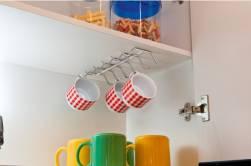 Organizador de xícaras para armário (para furar)